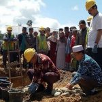 Husler Hadiri Peletakan Batu Pertama Pembangunan Asrama Susun Ponpes Nurul Junaidiyah