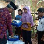 Husler Serahkan Bantuan ke Korban Gempa